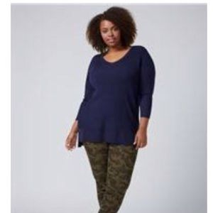 Lane Bryant double vee neck sweater